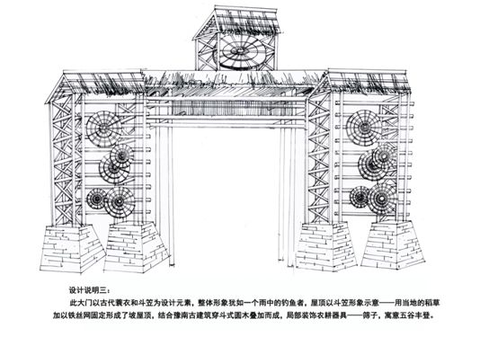 大门设计手绘