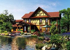 特色木屋 · 青岛莱西湖畔的艺墅