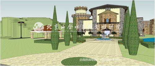 欧式山地酒庄设计及景观营造