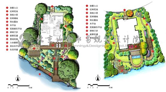 理念是不会变的,每一个别墅的庭院在设计中都有所不