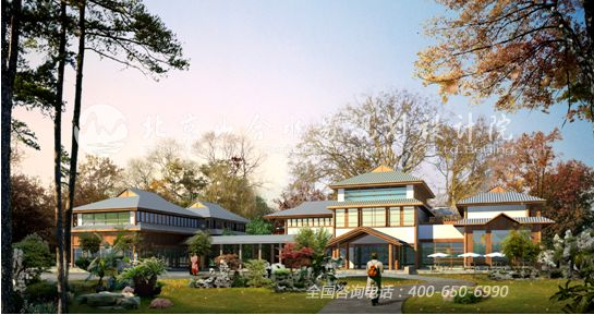 游客服务中心效果图 生态农庄设计 山合水易