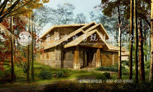 设计的休闲度假木屋别墅区