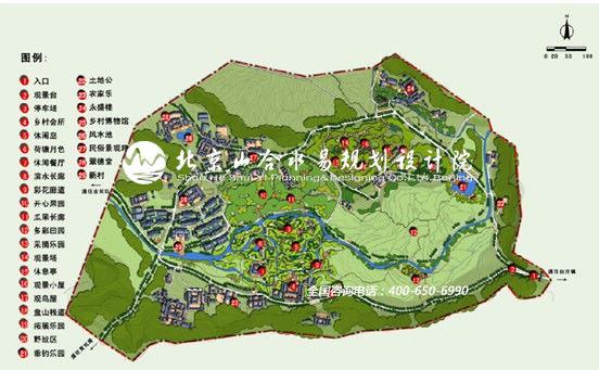 福建省龙岩市新罗区白沙镇南卓村旅游总体规划项目总平面图
