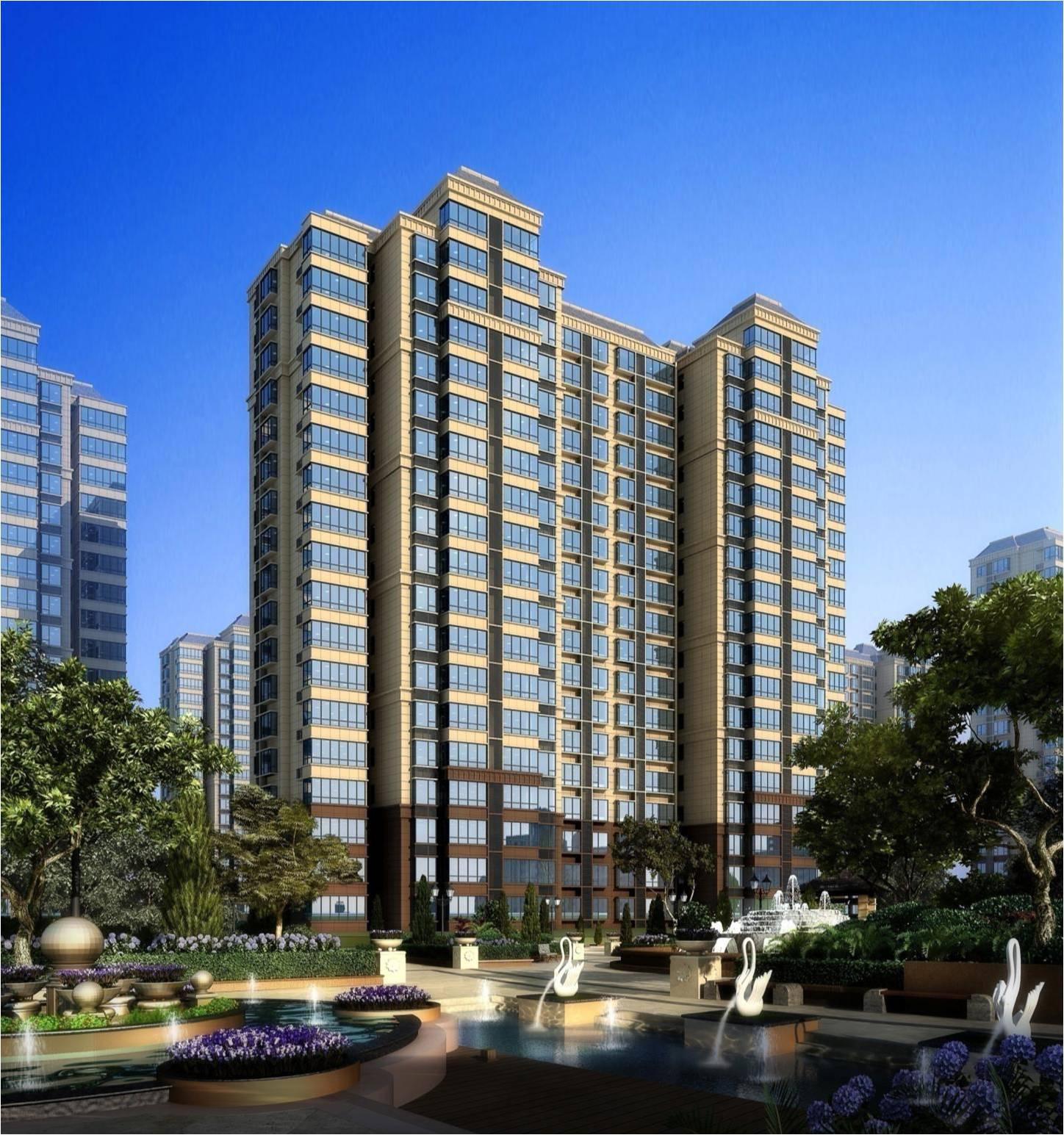 图 5 高层住宅效果图-医养结合型养老地产项目的成功典范