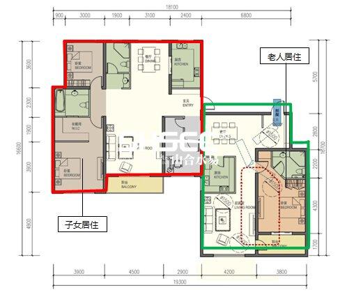 图37完全邻居型户型